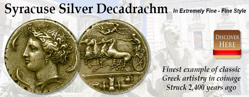 Syracuse Silver Decadrachm Ancient Coins