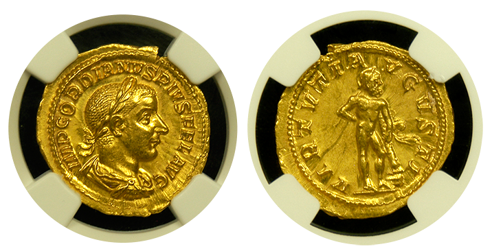 Roman Empire Gordian II Gold Aureus